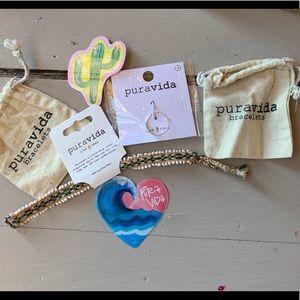 Puravida bracelets ring size 8 and bracelet NEW